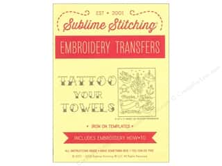 Yarn & Needlework New: Sublime Stitching Embroidery Transfers Tattoo Your Towels