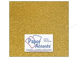 Accent Design Vinyl: Paper Accents Adhesive Vinyl 12 x 12 in. Sparkle Gold (12 piece)