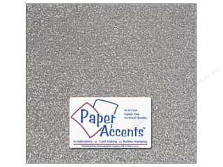 Accent Design Vinyl: Paper Accents Adhesive Vinyl 12 x 12 in. Sparkle Silver (12 piece)