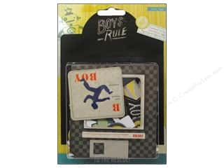 Crate Paper Dimensional Stickers: Crate Paper Stickers Boys Rule Chipboard