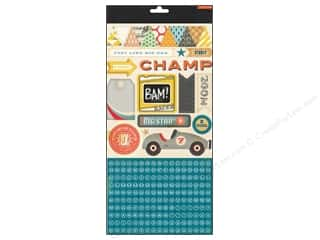 Crate Paper ABC & 123: Crate Paper Stickers Boys Rule Accent