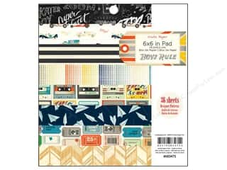 Scribbles Black: Crate Paper Pad 6 x 6 in. Boys Rule 36 pc.