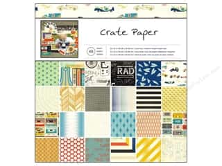 Brothers Papers: Crate Paper Pad 12 x 12 in. Boys Rule 48 pc.