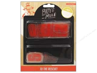 Brothers Glass: Crate Paper Embellishments Boys Rule Plastic Letters