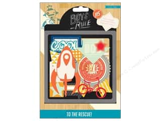 Brothers Papers: Crate Paper Embellishments Boys Rule Vellum Shapes