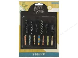 Clothespins: Crate Paper Embellishments Boys Rule Clothespins