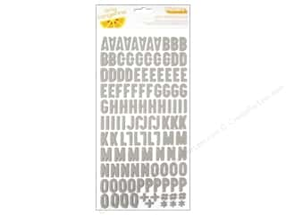 Plus $3 - $4: American Crafts Thickers Alphabet Stickers Amy Tangerine Plus One Match Natural