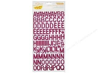 plus thick pink: American Crafts Thickers Alphabet Stickers Amy Tangerine Plus One Other Half Glitter Taffy