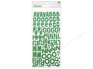 Cosmo Cricket Alphabet Stickers: American Crafts Thickers Alphabet Stickers #Summer Niki Riki Glitter Cricket