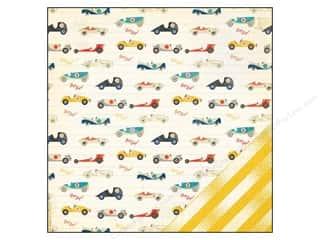 Crate Paper inches: Crate Paper 12 x 12 in. Paper Boys Rule Beep Beep (25 pieces)