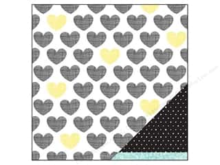 Plus Hearts: American Crafts 12 x 12 in. Paper Amy Tangerine Plus One Soul Mate (25 pieces)