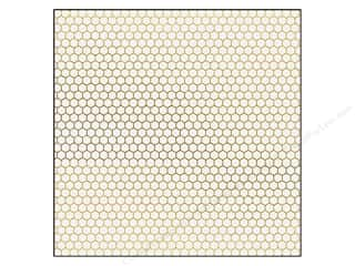 "Studio Calico Gold: Studio Calico Paper 12""x 12"" Vellum Gold Punchinella (25 pieces)"