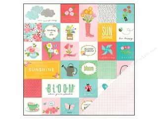 "Pebbles Inc Note Cards: Pebbles Paper 12""x 12"" Garden Party Poppy (25 pieces)"