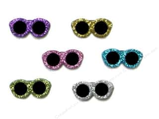 Jesse James Embellishments Glitter Sunglasses
