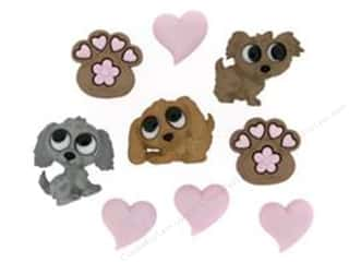 Jesse James Buttons Love & Romance: Jesse James Dress It Up Embellishments Puppy Love