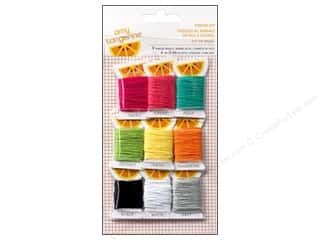 linen floss: American Crafts Embroidery Stencil Thread Kit Plus One