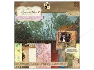 Love & Romance paper dimensions: Die Cuts With A View 12 x 12 in. Cardstock Mat Stack New Once Upon A Time