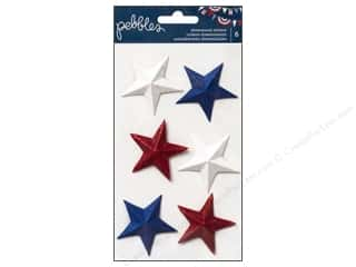Scrapbooking Dimensional Stickers: Pebbles Sticker Americana Dimensional Stars