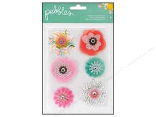 Pebbles Inc $6 - $13: Pebbles Sticker Garden Party Dimensional Flowers