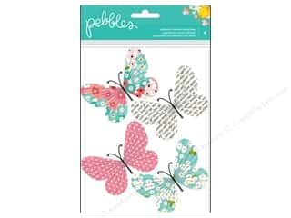 Pebbles Sticker Garden Party Dimensional Butterfly