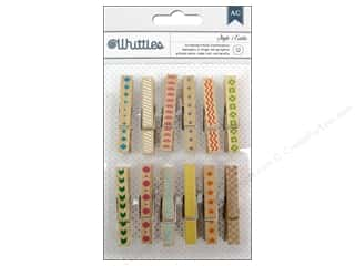 Craft Embellishments Clearance Crafts: American Crafts Whittles Clothespins 12 pc. Style