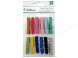 Clothespins: American Crafts Clothespins 12 pc. Brights