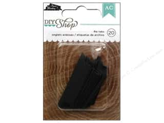 American & Efird $1 - $3: American Crafts File Tabs 20 pc. DIY Shop Chalkboard 1 3/4 in.