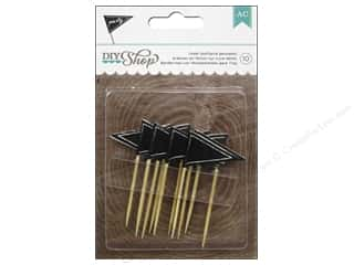 American Crafts 10 Yards: American Crafts Toothpicks 10 pc. DIY Shop Chalkboard Pennants