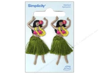 Simplicity Appliques Iron On Hula Girls