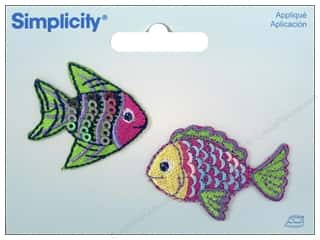 Simplicity Trim Irons: Simplicity Appliques Iron On Fish