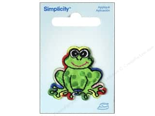 Simplicity Trim $5 - $9: Simplicity Appliques Iron On Rainbow Frog