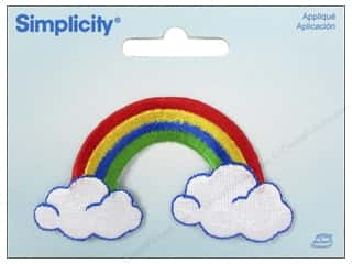 Simplicity Trim $5 - $9: Simplicity Appliques Iron On Rainbow/Clouds