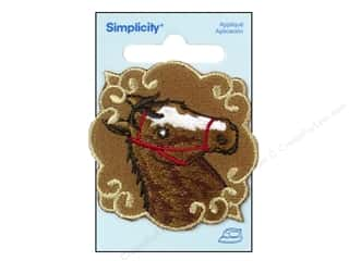 Trims Brown: Simplicity Appliques Iron On Horse Patchett Brown