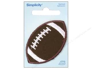 Appliques: Simplicity Appliques Iron On Small Football Brown