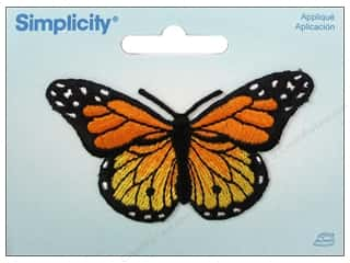 Simplicity Trim Black: Simplicity Appliques Iron On Butterfly Yellow/Orange