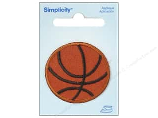 Simplicity Trim Black: Simplicity Appliques Iron On Small Basketball Orange