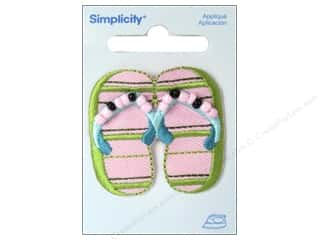 Simplicity Trim Black: Simplicity Appliques Iron On Flip Flop