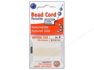 Beadalon Needles: Beadalon Bead Cord 100% Silk Size 4 White 2M