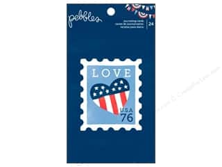Papers Americana: Pebbles Paper Pad Americana Journaling Card