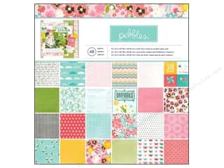"Spring Paper: Pebbles Paper Pad Garden Party 12""x 12"" 48pc"