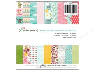 "Pebbles Inc Note Cards: Pebbles Paper Pad Garden Party 6""x 6"" 36pc"