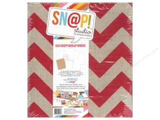 Simple Stories SN@P! Burlap Binder  6 x 8 in. Red