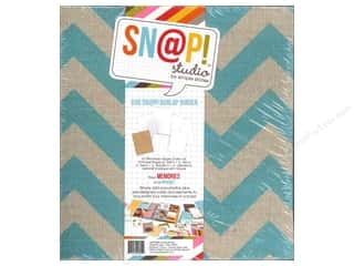 Scrapbook / Photo Albums Album Kits: Simple Stories SN@P! Burlap Binder  6 x 8 in. Teal