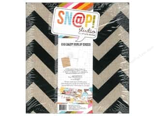 Scrapbook / Photo Albums Album Kits: Simple Stories SN@P! Burlap Binder  6 x 8 in. Black