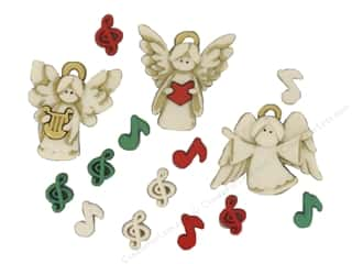 Jesse James Buttons Novelty Buttons: Jesse James Embellishments A Choir of Angels
