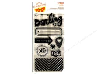 Rubber Stamping Craft & Hobbies: American Crafts Clear Stamp Amy Tangerine Plus One Accompany