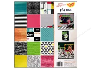 American Crafts Sheets: American Crafts Paper Pad 12 x 12 in. Amy Tangerine Plus One