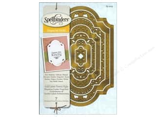 Stencils Family: Spellbinders Enhancebilities Die Gold Labels 28