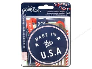 Shape Cuts: Pebbles Embellishment Americana Die Cut Cardstock Shape