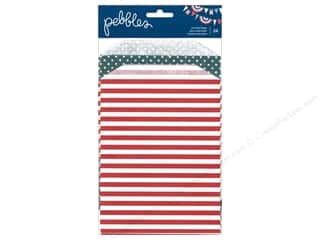 Pebbles Inc $4 - $12: Pebbles Embellishment Americana Bag Printed